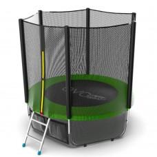 Батут EVO JUMP External 6ft (Green) с лестницей + нижняя сеть
