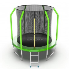 Батут EVO JUMP Cosmo 6ft (Green) с лестницей