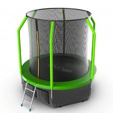 Батут EVO JUMP Cosmo 6ft (Green) с лестницей + нижняя сеть