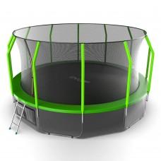 Батут EVO JUMP Cosmo 16ft (Green) с лестницей + нижняя сеть