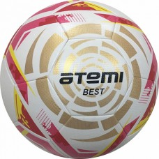 Мяч футбольный АТЕМИ BEST. р.5,белый/золот/красн