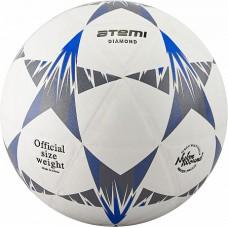 Мяч футбольный Atemi DIAMOND PVC бел/чёрн/син., р.5